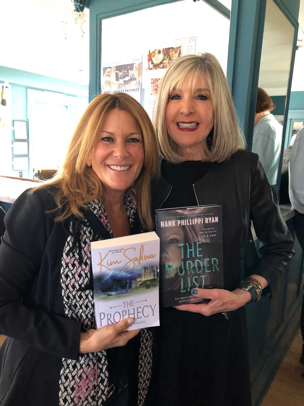 Authors Kim Sakwa and Hank Phillippi Ryan