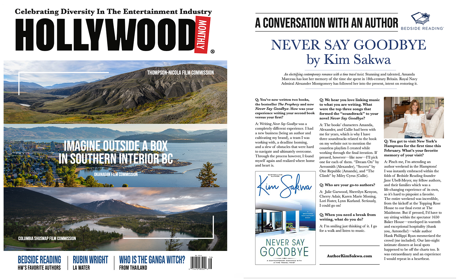 Hollywood Monthly July 2020 Author Interview with Kim Sakwa